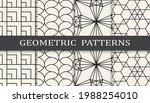 set of geometric seamless... | Shutterstock .eps vector #1988254010
