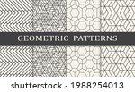 set of geometric seamless... | Shutterstock .eps vector #1988254013