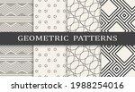set of geometric seamless... | Shutterstock .eps vector #1988254016
