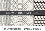 set of geometric seamless... | Shutterstock .eps vector #1988254019