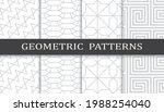 set of geometric seamless... | Shutterstock .eps vector #1988254040