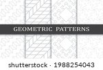 set of geometric seamless... | Shutterstock .eps vector #1988254043
