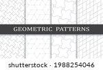 set of geometric seamless... | Shutterstock .eps vector #1988254046