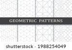 set of geometric seamless... | Shutterstock .eps vector #1988254049