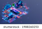 programming and coding of... | Shutterstock .eps vector #1988260253
