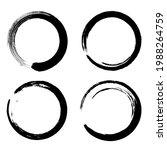 circle ink brush stroke  black...   Shutterstock .eps vector #1988264759