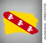 flag of lorraine brush strokes. ...