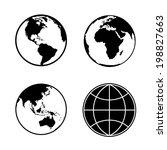 Set Of Earth Planet Globe Web...