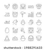 collection of chicken  turkey...   Shutterstock .eps vector #1988291633