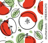 apple pattern delicious juicy...   Shutterstock .eps vector #1988304293