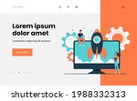 tiny character launching... | Shutterstock .eps vector #1988332313