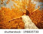 enjoying the nature. young... | Shutterstock . vector #198835730