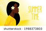 beautiful black woman with...   Shutterstock .eps vector #1988373803
