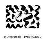 black dry brushstrokes hand... | Shutterstock .eps vector #1988403080