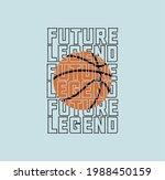 sport basket ball future legend ... | Shutterstock .eps vector #1988450159