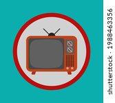 retro tv icon.television sign...   Shutterstock .eps vector #1988463356