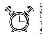 clock icon. alarm sign. vector...   Shutterstock .eps vector #1988463359
