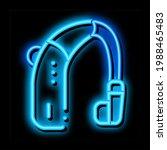 deaf aid neon light sign vector.... | Shutterstock .eps vector #1988465483