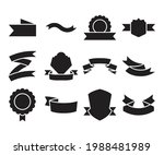 ribbon banner label and award...   Shutterstock .eps vector #1988481989