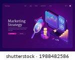 marketing strategy isometric... | Shutterstock .eps vector #1988482586