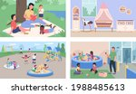 childcare and daycare flat...   Shutterstock .eps vector #1988485613