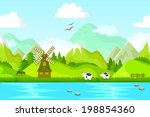 seamless background of rural... | Shutterstock . vector #198854360