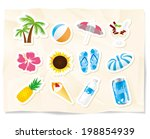 summmer sea icons | Shutterstock .eps vector #198854939