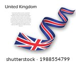 waving ribbon or banner with... | Shutterstock .eps vector #1988554799