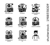 individual income tax icon set... | Shutterstock .eps vector #1988558309