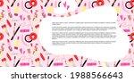 lips cosmetics frame. cartoon... | Shutterstock .eps vector #1988566643