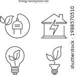 energy saving icons set...