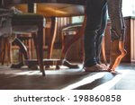 happy barefoot couple at the... | Shutterstock . vector #198860858