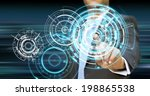 businessman using tactile... | Shutterstock . vector #198865538