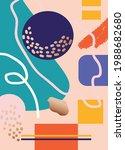 abstract art cover pattern flat ...   Shutterstock .eps vector #1988682680