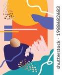 abstract art cover pattern flat ...   Shutterstock .eps vector #1988682683