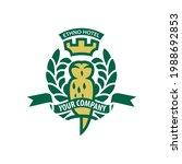 logo  emblem with an owl that...   Shutterstock .eps vector #1988692853