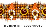 sunflower gnomes and bees on a ... | Shutterstock .eps vector #1988700956