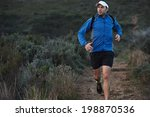 ultra marathon trail runner... | Shutterstock . vector #198870536