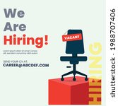 we are hiring join our team... | Shutterstock .eps vector #1988707406