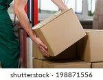 hands of warehouse worker... | Shutterstock . vector #198871556