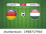 germany vs hungary scoreboard... | Shutterstock .eps vector #1988717960