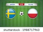 sweden vs poland scoreboard... | Shutterstock .eps vector #1988717963