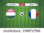 hungary vs france scoreboard... | Shutterstock .eps vector #1988717966