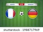 france vs germany scoreboard... | Shutterstock .eps vector #1988717969