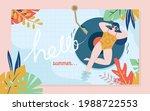 summer concept poster design of ...   Shutterstock .eps vector #1988722553