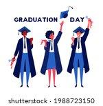 group of students celebrating... | Shutterstock .eps vector #1988723150