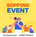 shopping event illustration.... | Shutterstock .eps vector #1988726663