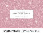 vintage card with rose flowers. ... | Shutterstock .eps vector #1988730113