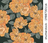 seamless pattern with rosrs.... | Shutterstock .eps vector #1988730116