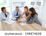 group of business people... | Shutterstock . vector #198874838